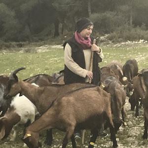 Odile BOUTIERES -  Ferme Lafon de Lacan -  Éleveuse de chèvres à Saint Pargoire