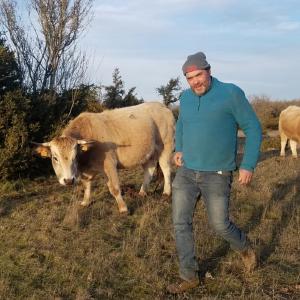 """Guillaume CAMPLO - Ferme du Causse - Éleveur de vaches """"Aubrac"""" au Caylar"""
